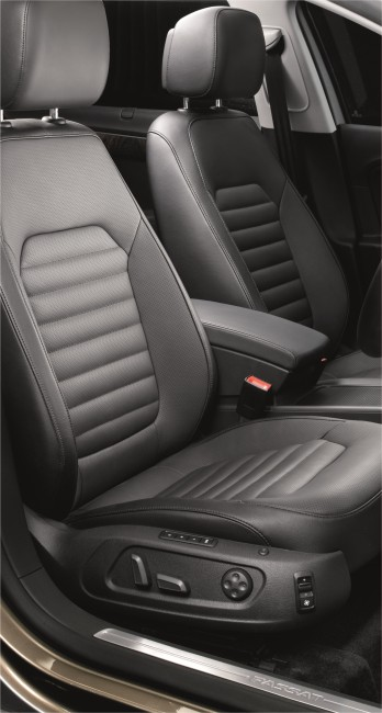 The Passat_12-way adjustable electric front seats