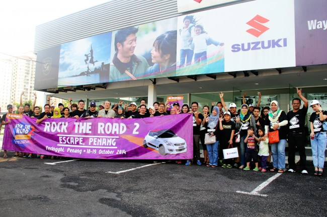 1 Suzuki Rock the Road 2 Escape Penang Group Photo